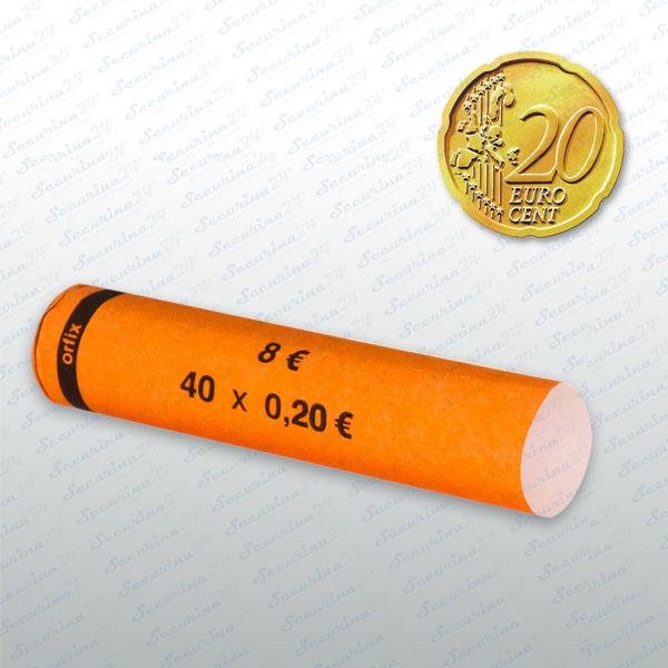 Münzhülsen- 20 Cent 300Stück  SR-30020
