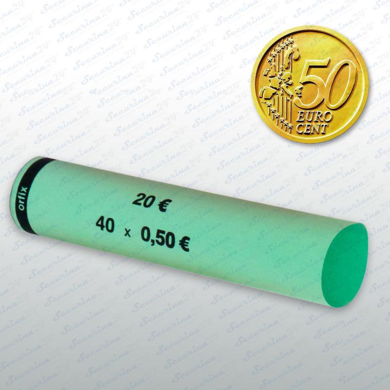 Münzhülsen - 50 Cent Großpackung 1700 Stück