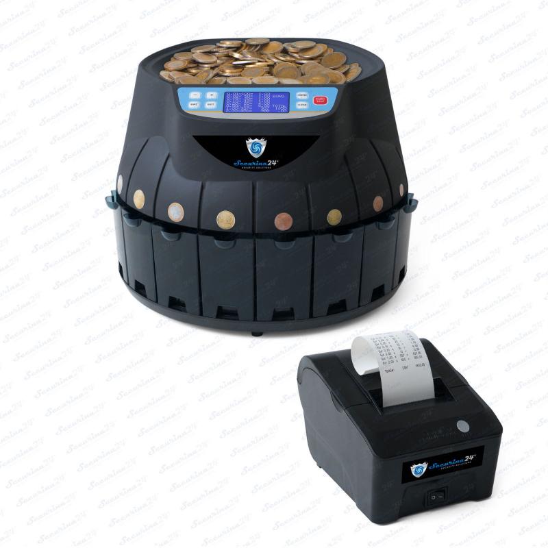 Münzzähler Euro SR1850 - mit Thermodrucker